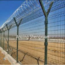 China High Security Y Post Razor Type Wire Mesh Fence For Airport Fence Prison Fence Seaport Fencing China Wire Mesh Fence Y Post Fence