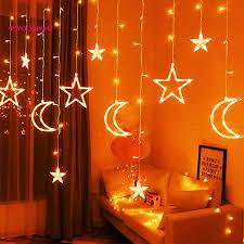 Dây đèn LED trang trí rèm cửa đẹp mắt