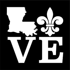 Amazon Com Louisiana Love Fleur De Lis Vinyl Decal Sticker Cars Trucks Vans Suvs Windows Walls Cups Laptops White 5 5 Inch Kcd2394 Automotive
