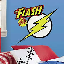 Amazon Com Roommates Classic Flash Logo Peel And Stick Giant Wall Decals Home Improvement