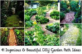 ingenious beautiful diy garden path ideas