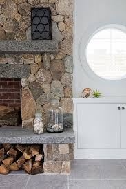 fireplace hearth wood storage design ideas