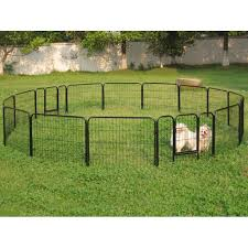 Metal Dog Outdoor Fences Black 16 Panel 24 H Walmart Com Walmart Com