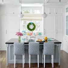 kitchen island with wood countertop