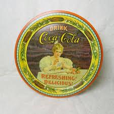 Coca Cola Hilda Clark Round Metal Tray Louisville Kentucky