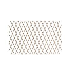 Mgp 24 In H X 72 In W Expandable Peeled Willow Trellis Fence 2 Pack Wcff 24 2 The Home Depot