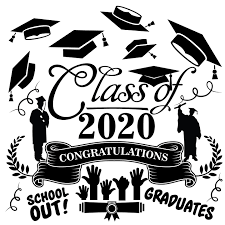 Home Wall Art Lettering Decal Design Class Of 2020 Congratulations School Out Graduates 20 X 20 Girls Boys Bedroom Living Room Diy Stick And Peel Vinyl Wall Decoration Sticker