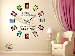 Wall Decal Sticker Tree Removable Family Photo Frames Clock With Quote Dc0120 Ebay
