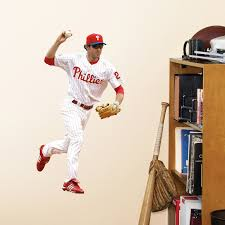 Fathead Mlb Philadelphia Phillies Chase Utley Junior Wall Decal Vip Outlet