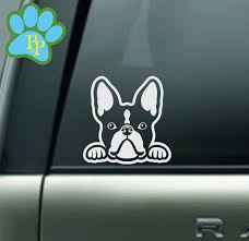 Boston Terrier Decal Boston Terrier Car Decal Sticker Boston Terrier Gifts For Dog Mom Dad Walker Car Decals For Women Peek A Boo Decal Dog Gifts Boston Terrier Gift Car Decals