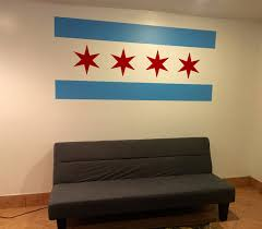 Chicago Flag Wall Decal Chicago Flag Decor Chicago Decor Chicago Inspired Theme