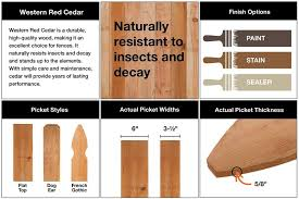 Outdoor Essentials 3 1 2 Ft X 8 Ft Western Red Cedar Spaced Picket Flat Top Fence Panel Kit 241286 The Home In 2020 Outdoor Essentials Western Red Cedar Red Cedar