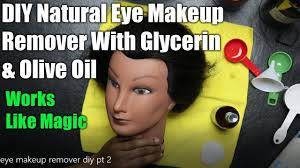 olive oil natural eye makeup remover