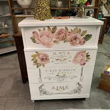 Furniture Decals Botanical Rose By Redesign With Prima Etsy Flower Furniture Rub On Transfers Mirror Decal