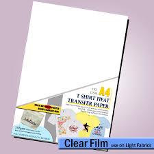 T Shirt Decal For Light Fabric Heat Transfer Paper Use On Inkjet Printers Lot Ebay