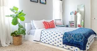 bedroom with platform bed