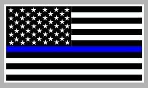 Thin Blue Line Flag Decal Chicago Fire And Cop Shop