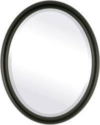 com oval beveled wall mirror