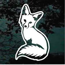 Sitting Fox Decals Car Window Stickers Customized Decal Junky
