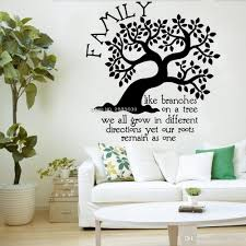 Family Tree Quote Wall Sticker For Living Room Decor Decal Like Branches On A Roots Kids Room Large Tree Murals Decals Graffiti Wall Stickers Graphic Wall Decals From Onlinegame 12 66 Dhgate Com