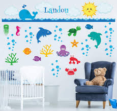 Ocean Adventure Awaits Nursery Wall Decals Yendo Print