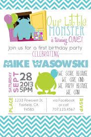 Printable Monsters Inc Inspired Birthday Invitation Fiesta De
