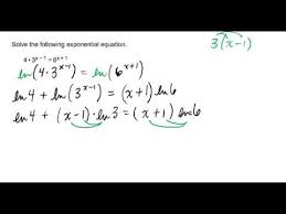 solving an exponential equation with x