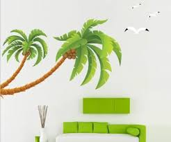 Amazon Com Eden Art Diy Home Decor Art Removable Wall Decal Large Palm Tree Wall Stickers 90 Home Kitchen