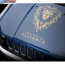 Lion Totem Graphics Car Hood Stickers For Jeep Renegade Wrangler Fight For The Alliance Vinyl Decal Auto Engine Cover Decals Car Stickers Aliexpress