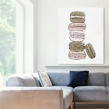 Shop Oliver Gal Stack Of Macarons Food And Cuisine Wall Art Canvas Print Pastry Gold Pink On Sale Overstock 32195484