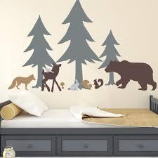 Forest Animals Kids Teen Wall Decals Alphabet Garden Decals Modern Sticker Co