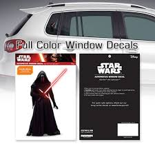 Star Wars Kylo Ren At The Ready Window Decal Entertainment Earth