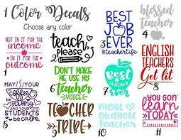 Teacher Quote Decal Vinyl Sticker With Funny Sayings For Car Notebook Cup 4 20 Picclick