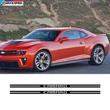 Racing Sport Stripes Car Door Side Skirt Stickers Auto Styling Body Decor Decals For Chevrolet Camaro Rs Ls Ss Lt 2010 2018 Car Stickers Aliexpress