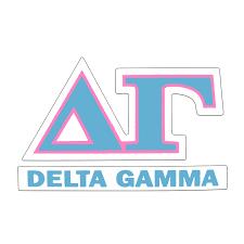 Delta Gamma Greek Letter Decal University Of Alabama Supply Store