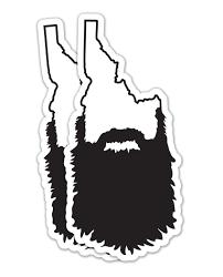Idaho Beard Sticker Wear Boise