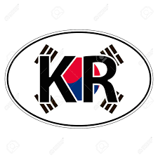 Sticker On Car Flag Korea Korean Republic With The Inscription Royalty Free Cliparts Vectors And Stock Illustration Image 64320965