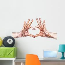 Heart Gesture With Henna Wall Decal Wallmonkeys Com