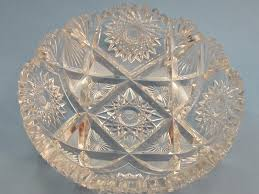 antique glass dish dining serving