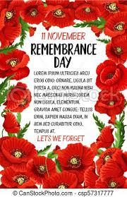 vector remembrance day poppy card remembrance day