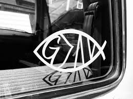 Jesus Fish God Is Greater Than The Highs And Lows Car Decal Etsy