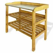 vidaxl potting bench with 2 shelves