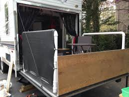 Building Patio With Pvc And Privacy Screens For Toy Hauler When Ramp Is Down Travel Trailer Remodel Toy Hauler Toy Hauler Camper