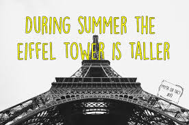 during summer the eiffel tower