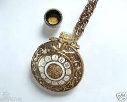 avon vintage pocket watch glass perfume