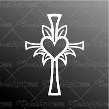 Best Prices On Heart Cross Car Truck Stickers