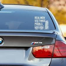 Real Men Use Three Pedals Cars Decal Manual Transmission 6 Speed 5 Speed 6mt Stick Shift Sticker Multiple Si Car Decals Car Decals Stickers Manual Transmission