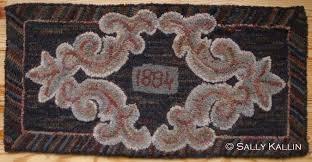 geometric rug hooking