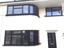 our black aluminium window frames