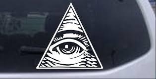 All Seeing Eye Illuminati Car Or Truck Window Laptop Decal Sticker Ebay